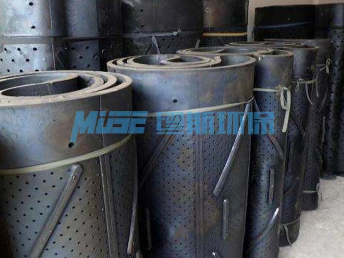Shot blasting machine track